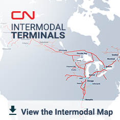Map Of Canada Via Rail.Intermodal Terminals Our Network Our Business Cn Ca