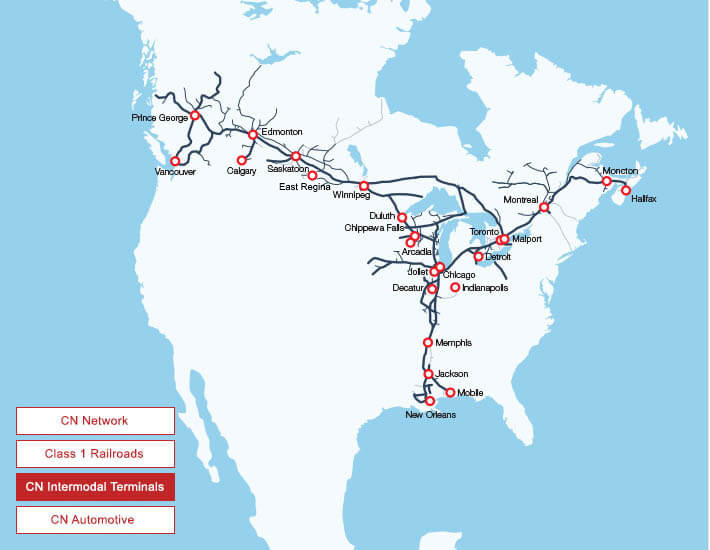 Rail Map Ontario Canada Maps and Network | Our Services | cn.ca