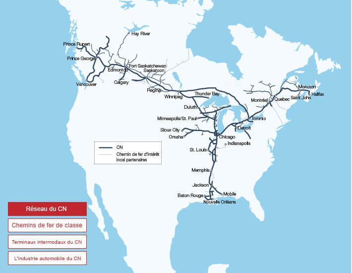 Carte Canada Avec Ville.Cartes Et Notre Reseau Nos Services Cn Ca